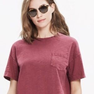 🌴NEW J. CREW GARMENT DYED POCKET TEE~DUSTY ROSE🌴